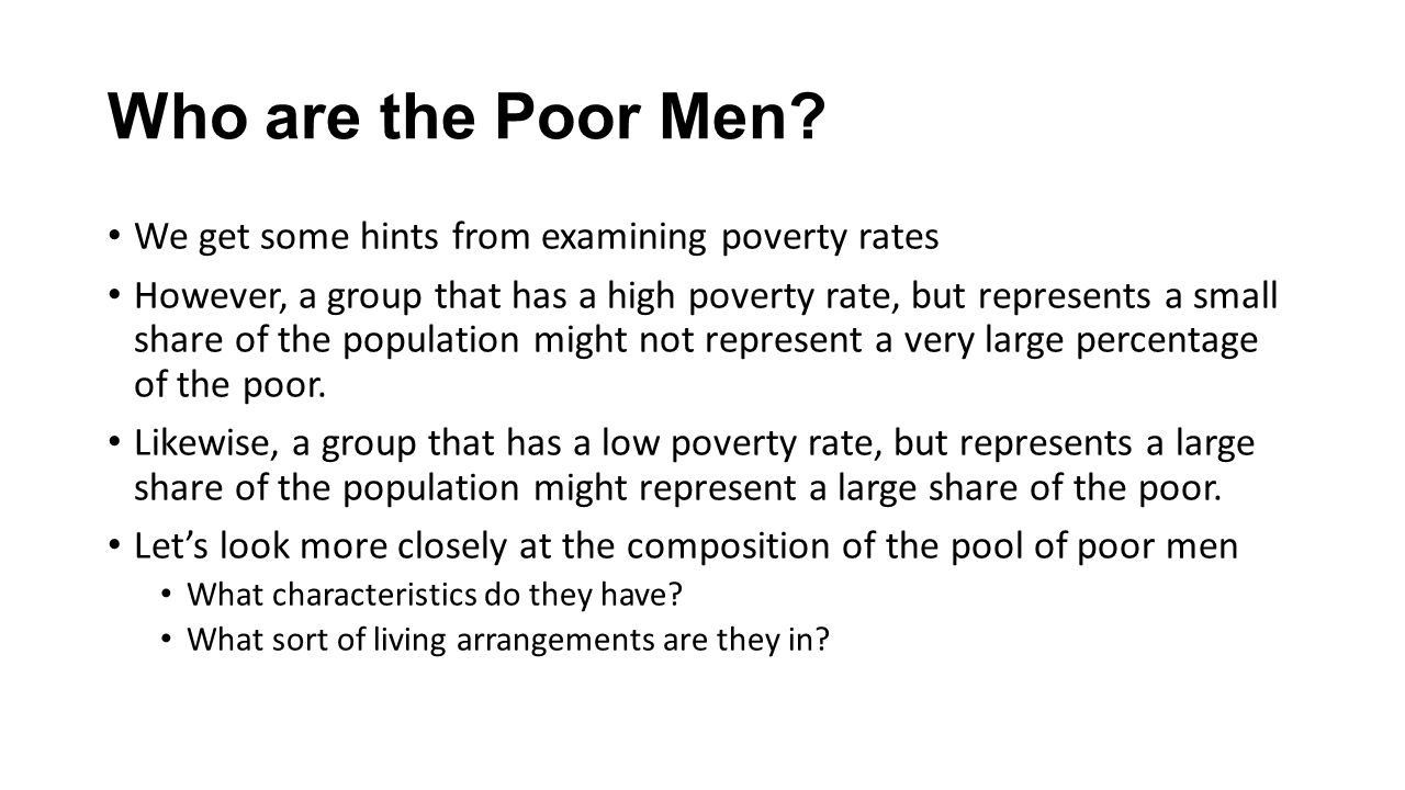 Who are the Poor Men.