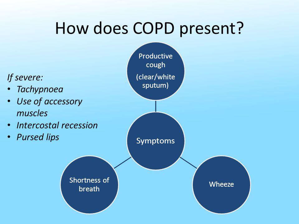 How does COPD present.