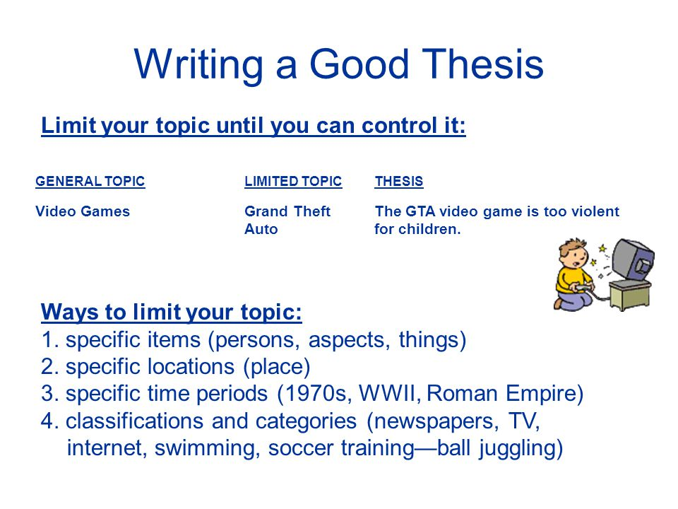 How To Write The Perfect Thesis Statement