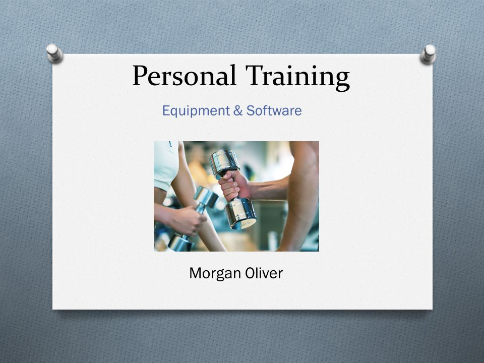 Personal Training Morgan Oliver