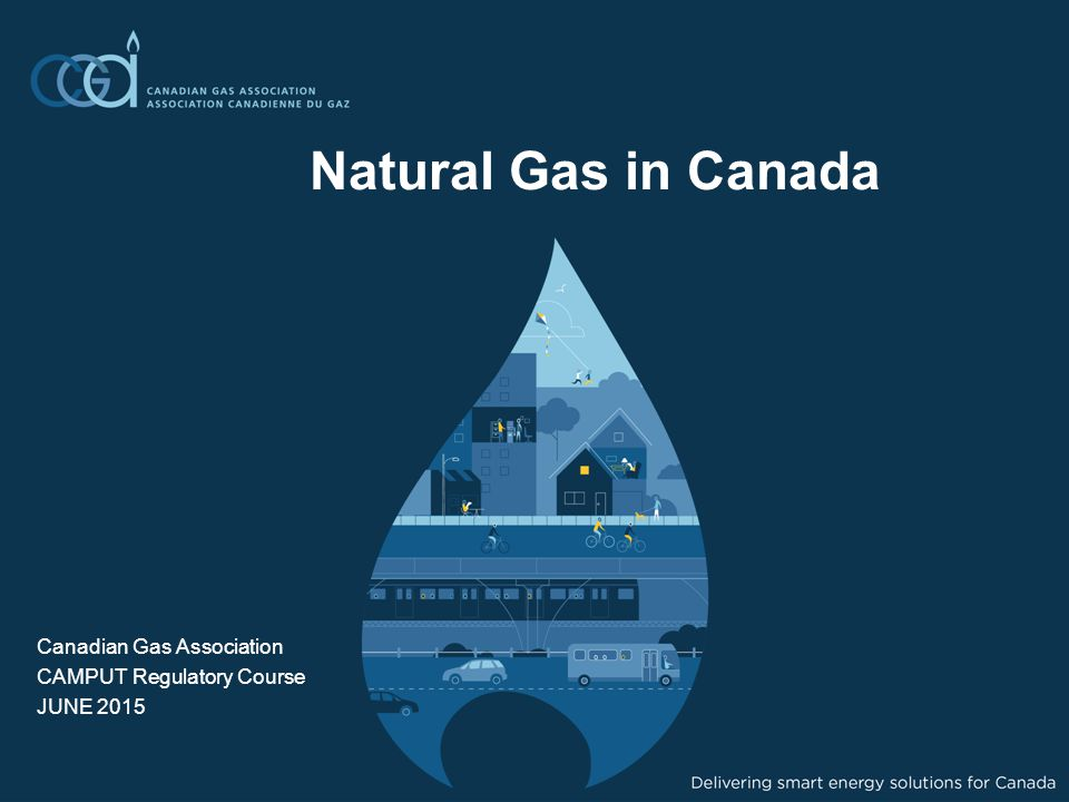 Natural Gas in Canada Canadian Gas Association CAMPUT Regulatory Course JUNE 2015