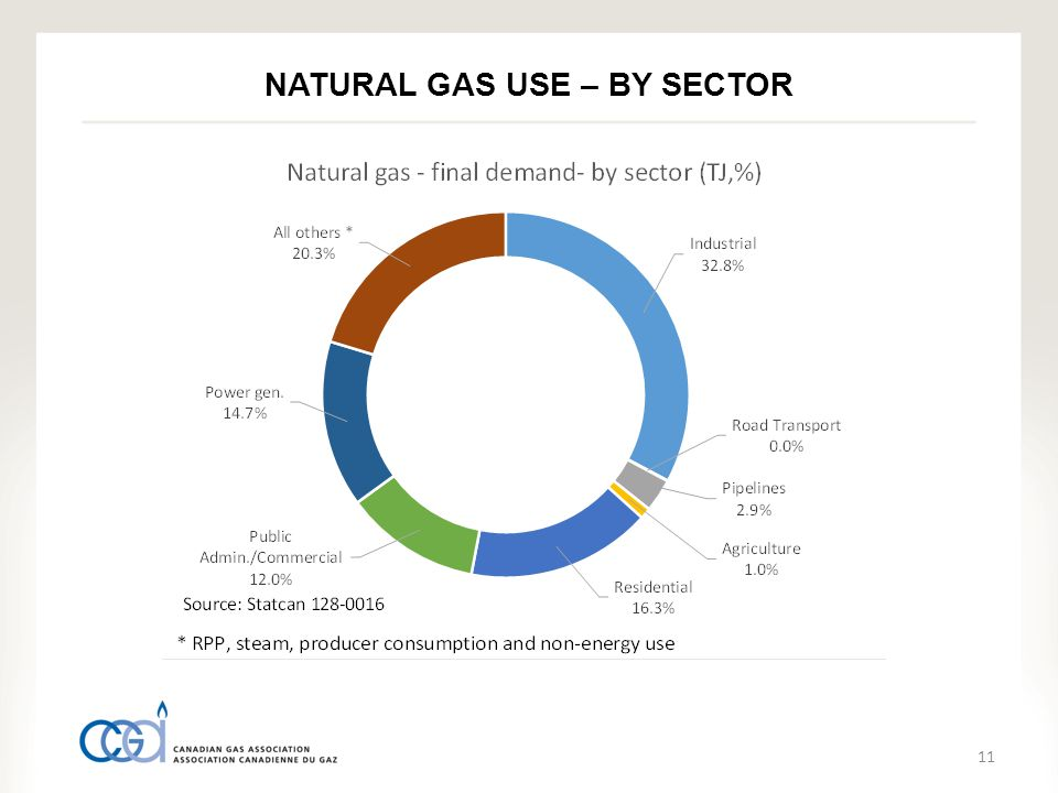 11 NATURAL GAS USE – BY SECTOR