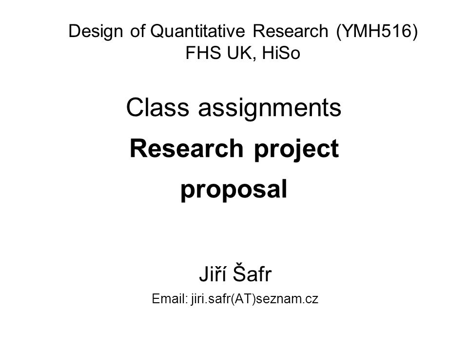 Research proposal design