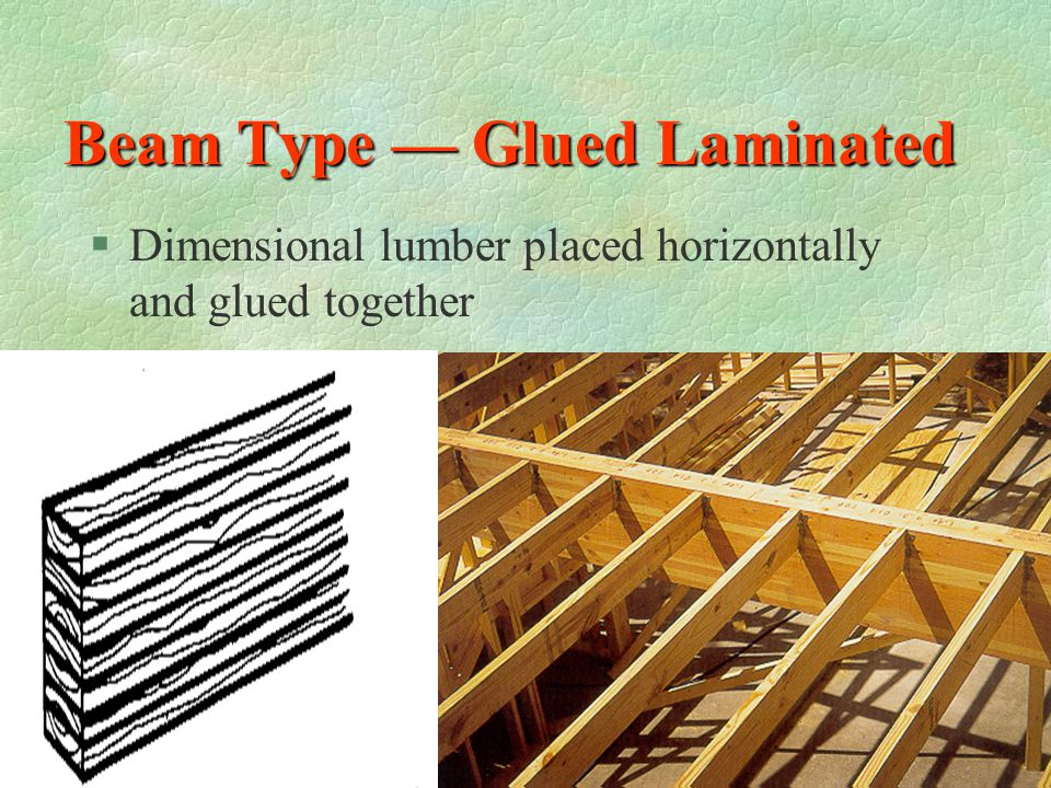 Beam and Joist Attached with joist hangers §Joist are attached to beams with metal joist hangers §What type of beam is shown?