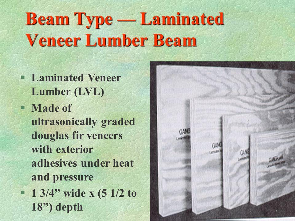 Beam Type — Parallel Strand Lumber Beam §See classroom example