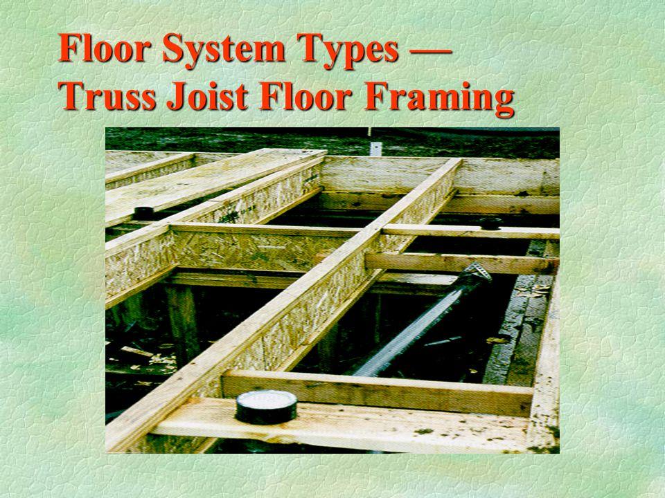 Floor System Types — Open Web Floor Joist