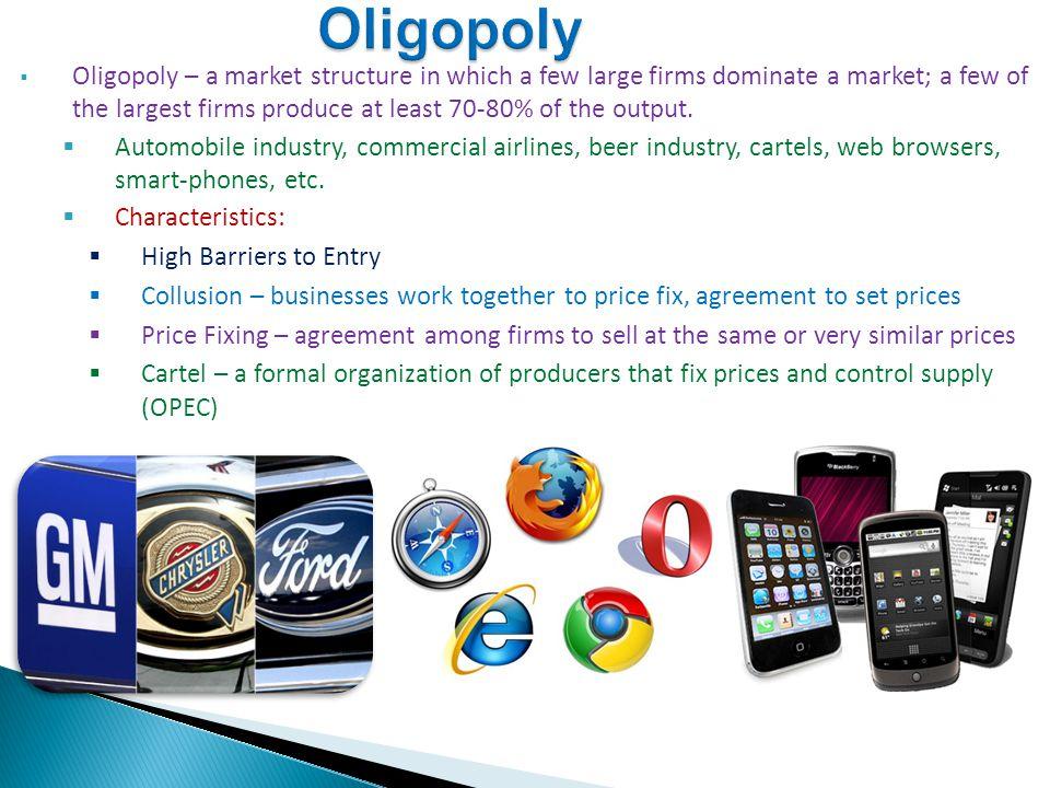 oligopolistic market