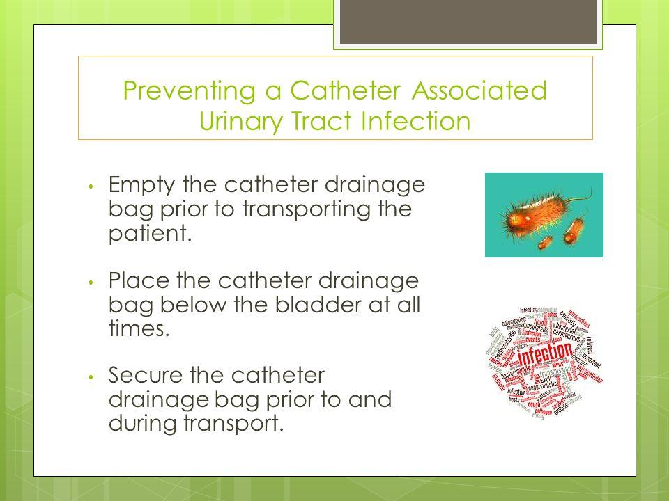 prevention of catheter associated uti