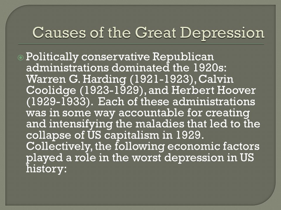 Intrastate depression in american history