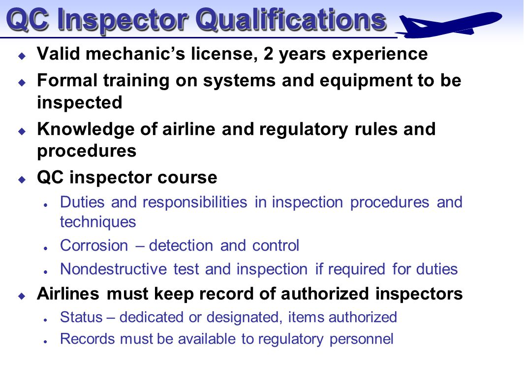 Aviation Maintenance Management Quality Control Chapter ppt download