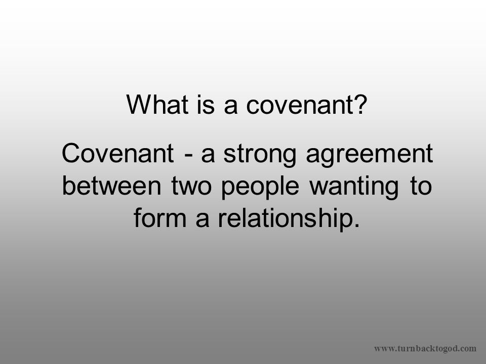 What is a covenant.