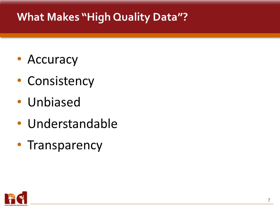 7 What Makes High Quality Data Accuracy Consistency Unbiased Understandable Transparency