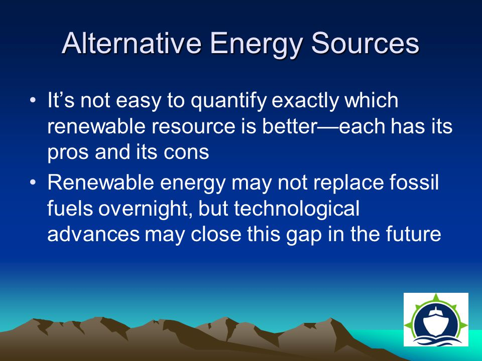 how can alternative sources of energy