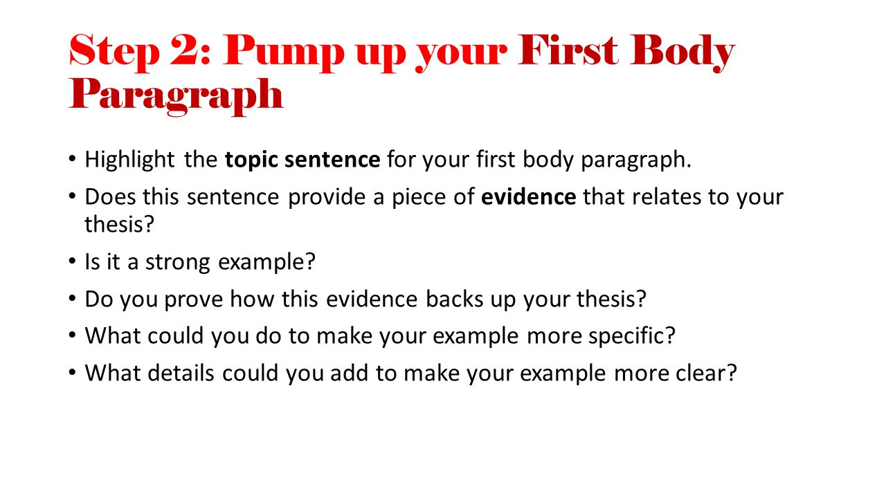 expository essay first aid kit breathing life back into your step 2 pump up your first body paragraph highlight the topic sentence for your first