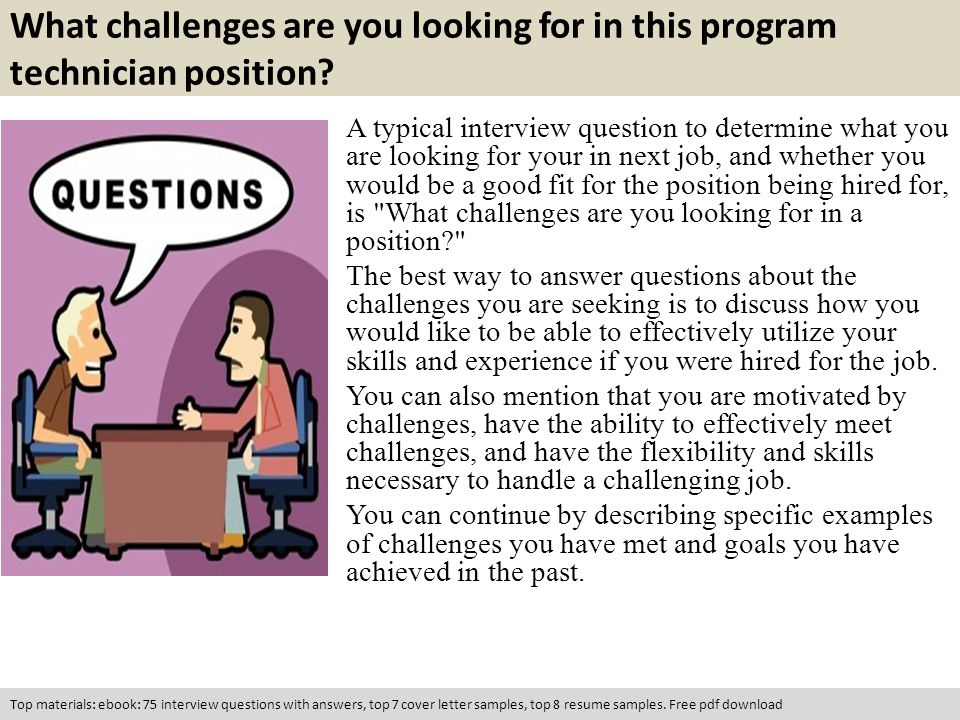 questions and answers for a job interview pdf