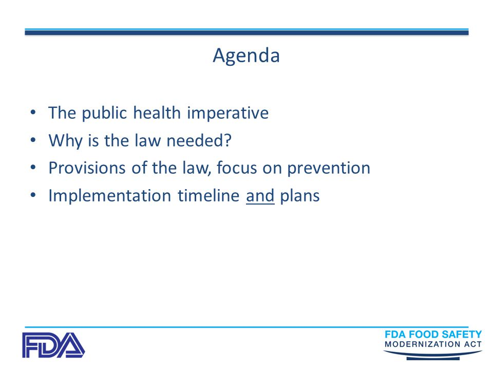 Agenda The public health imperative Why is the law needed.