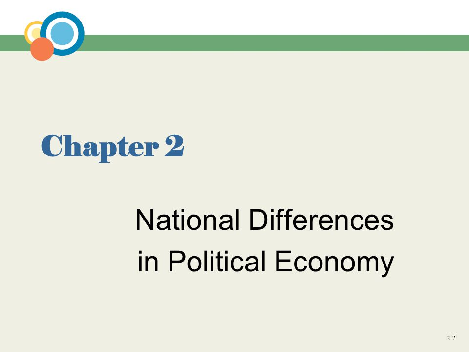 2-2 Chapter 2 National Differences in Political Economy