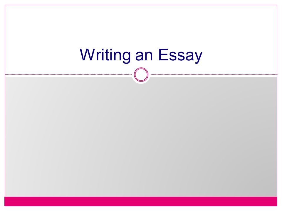 Essay writing tips, the body of the essay?