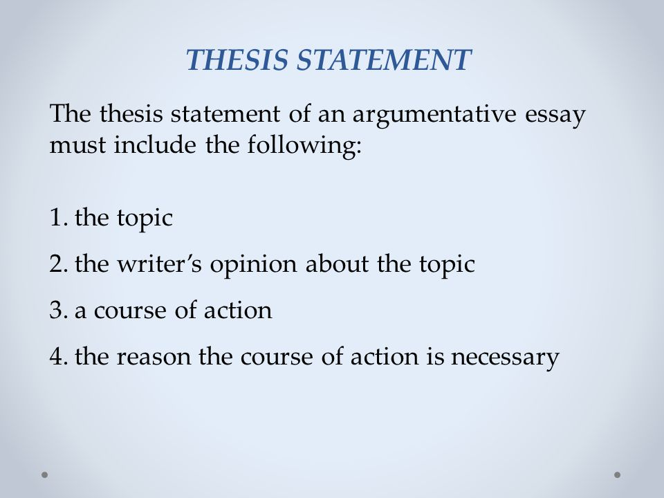 Choosing A Topic For Argumentative Essay