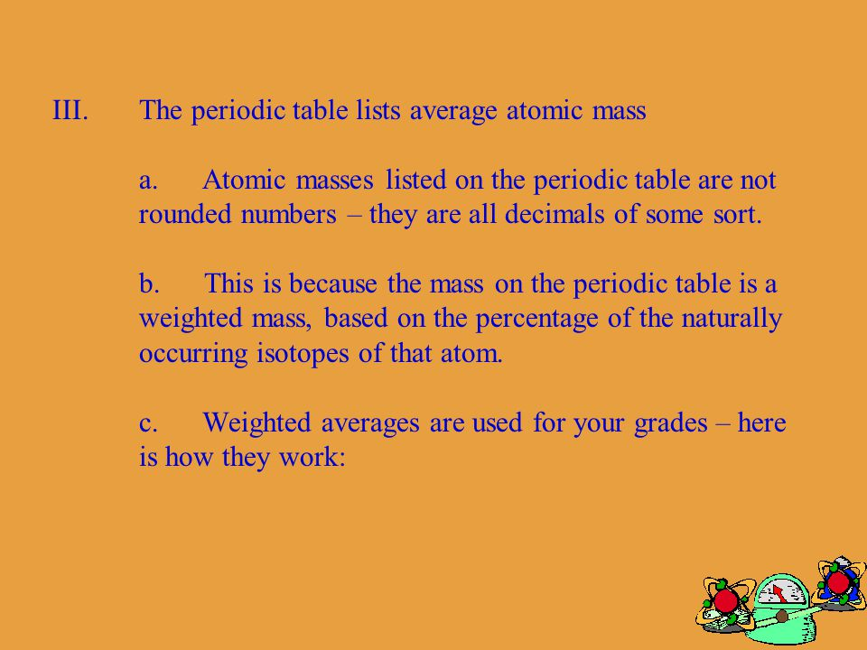 Lesson 17 atomic number and mass mrfeiock mred ppt download 12 actual masses of subatomic particles in amu mass of a single proton10073 mass of a single neutron10087 mass of a single electron0000549 urtaz Gallery