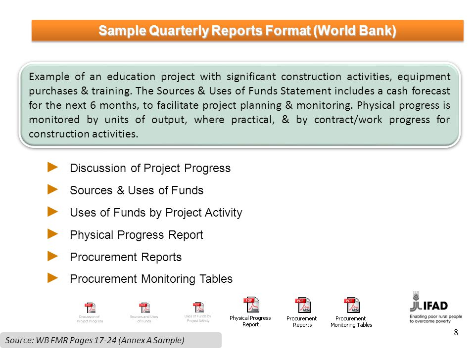 quarterly reports sample