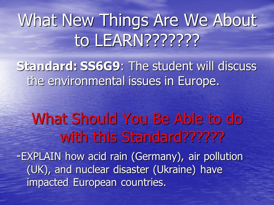 Warm Up K-W-L Chart: Air pollution, acid rain, and nuclear ...