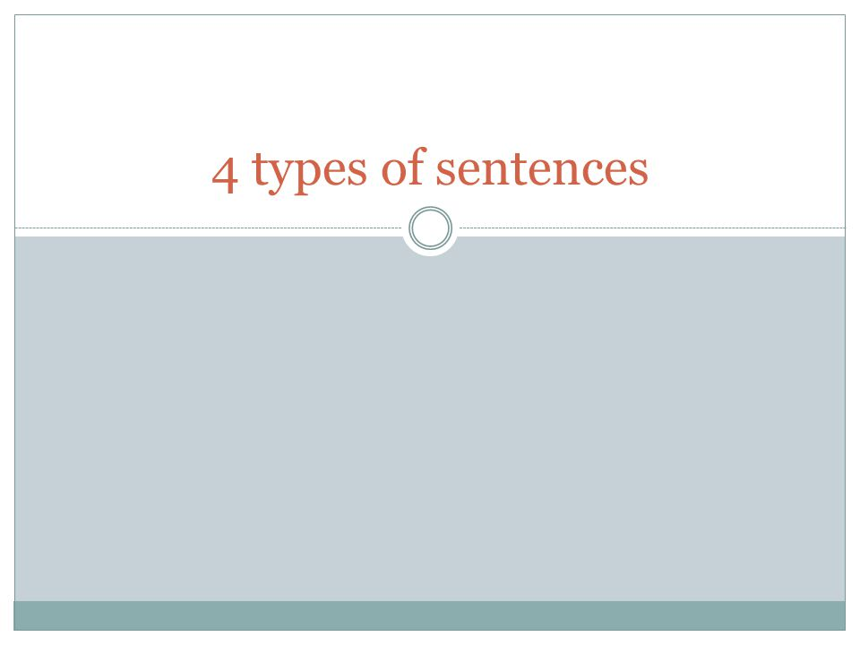 4 types of sentences