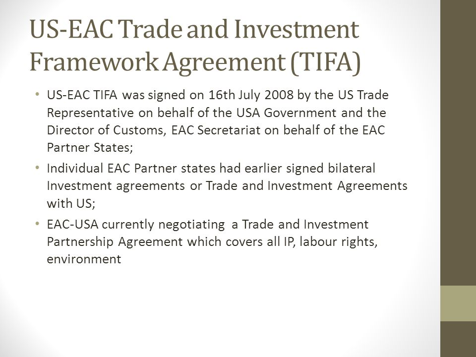 Eac-Usa Trade And Investment Partnership Agreement Elizabeth