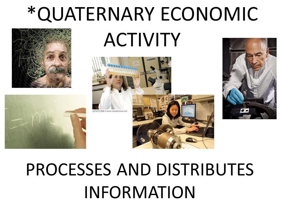 Quaternary Economic Activity QUATERNARY ECONOMIC ACTIVITY