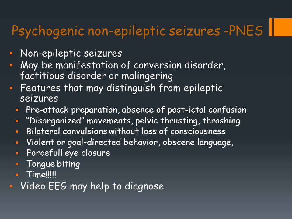 non epileptic attack disorder symptoms