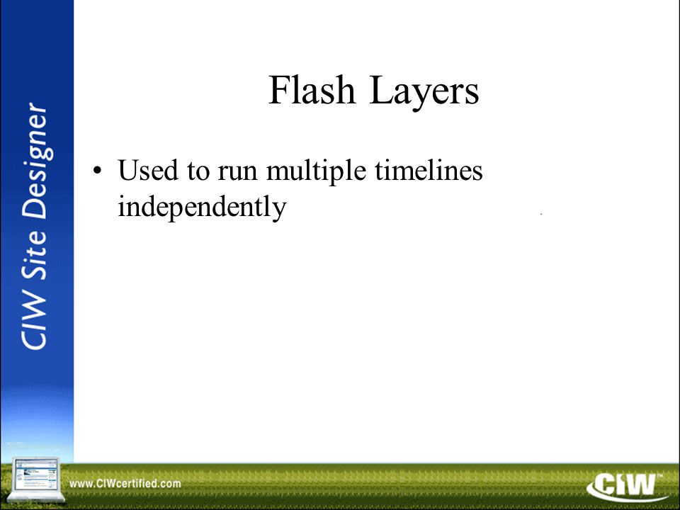 Flash Layers Used to run multiple timelines independently
