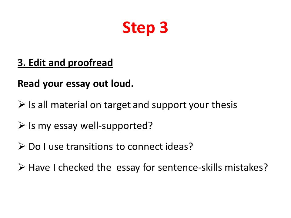basic steps to write an essay