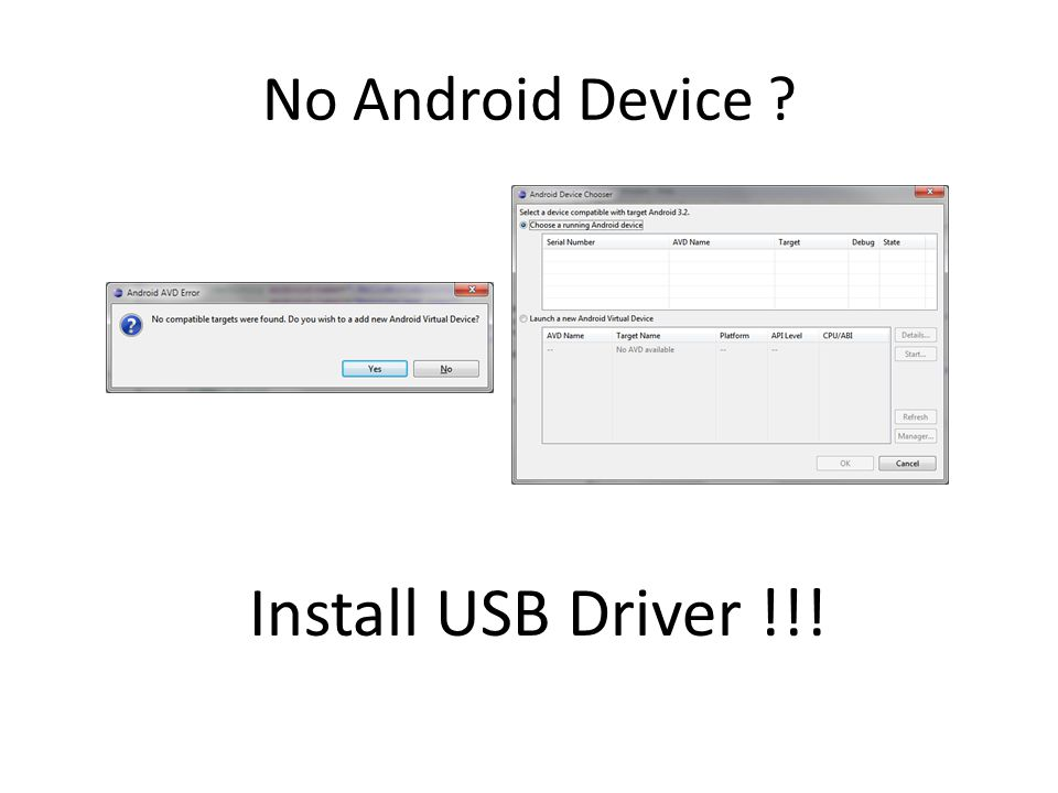 No Android Device Install USB Driver !!!