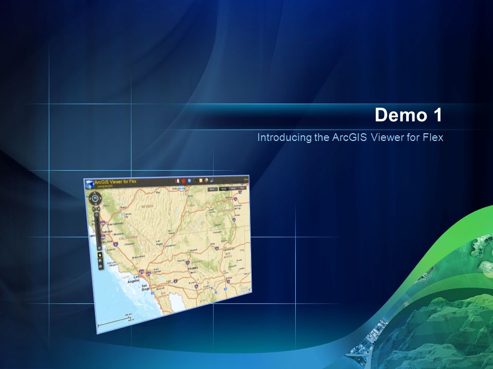 Introducing the ArcGIS Viewer for Flex Demo 1