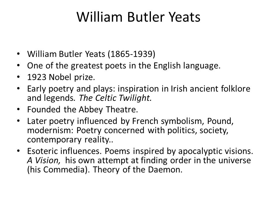 yeatss poetic development essay The entire poetic career of yeats, stretching over a period of about fifty years may be classified in to four sharply distinct hazes it is of course, true that a critical analysis which concentrates on dissection is bound to be erroneous.