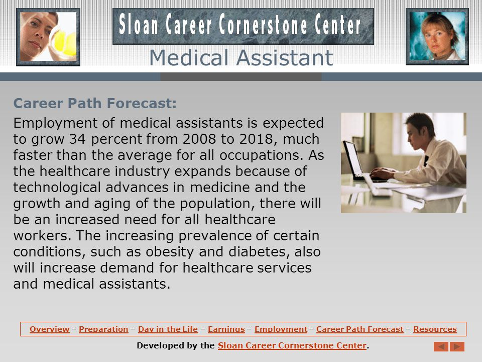 Employment: Medical assistants hold about 483,600 jobs in the United States.