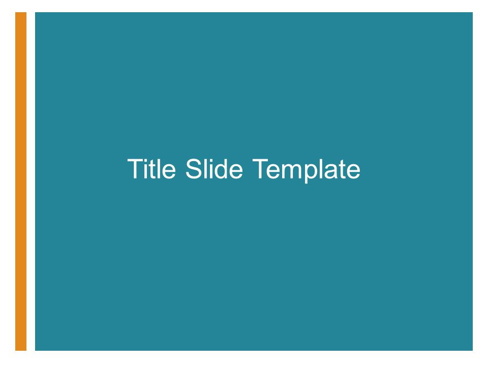 Title Slide Template