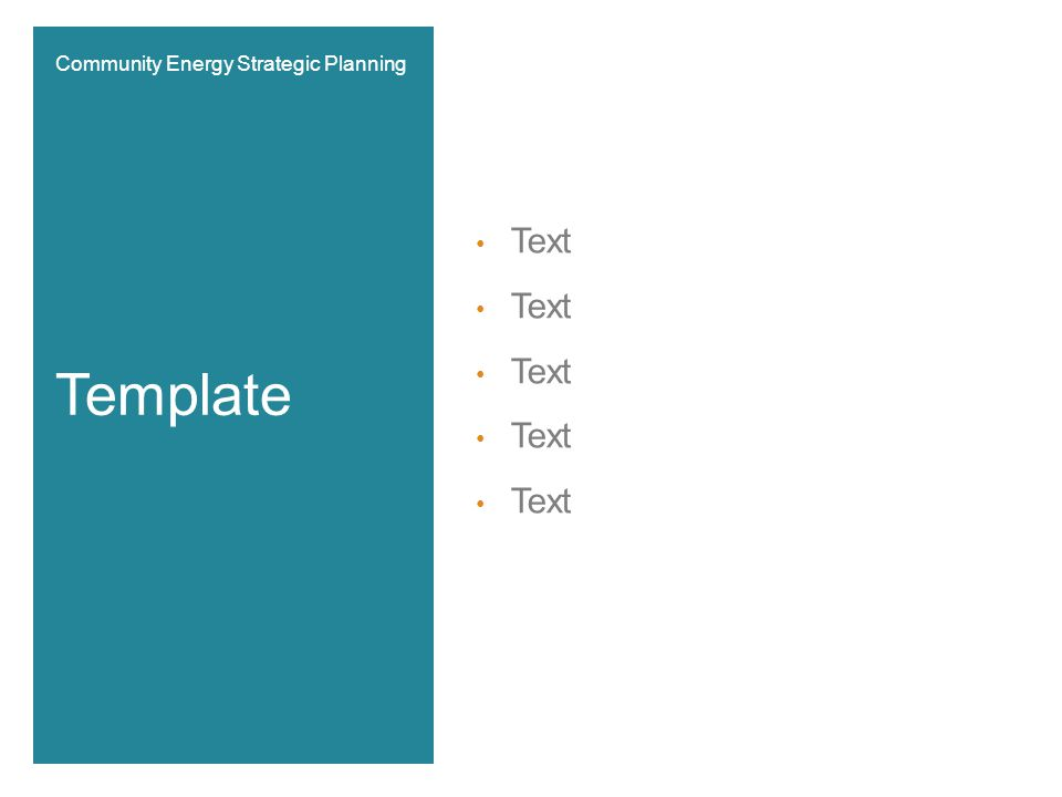 Text Template Community Energy Strategic Planning
