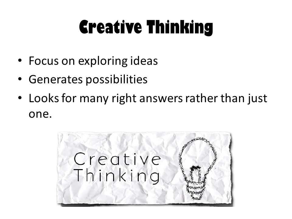 critical and creative thinking skills ppt Thinking skills presentation developing critical & creative thinking skills divine grace martinez strategies for developing creativity and critical thinking.
