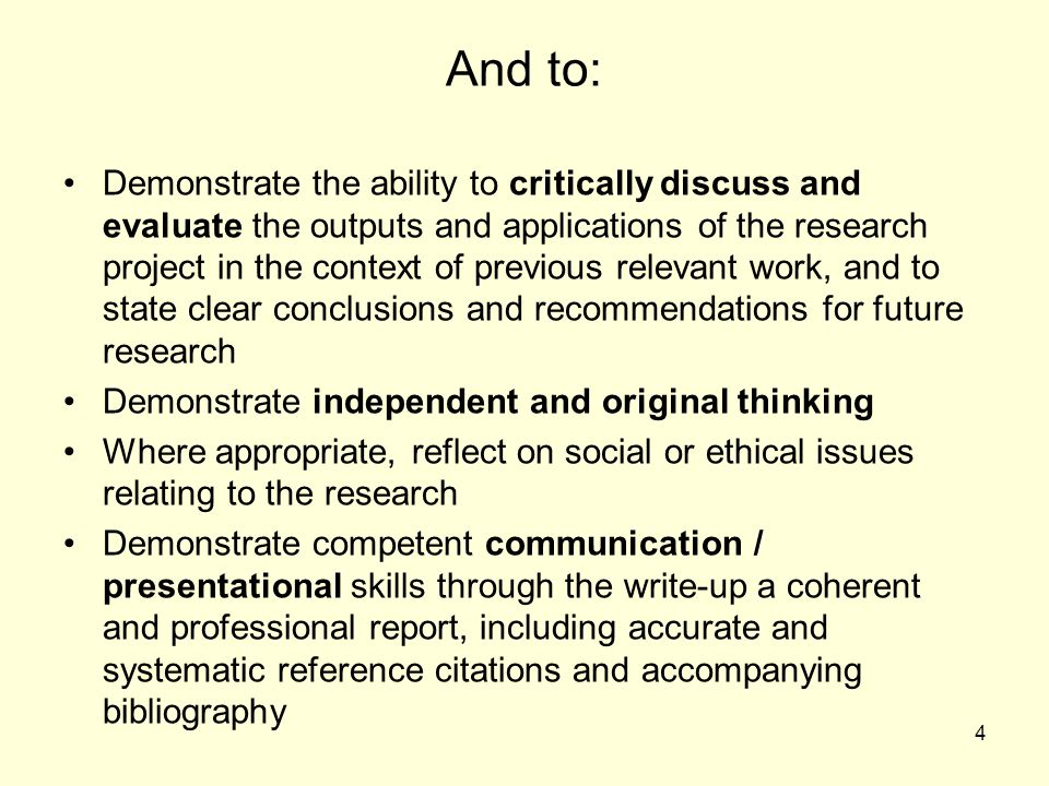 What is a good research project?
