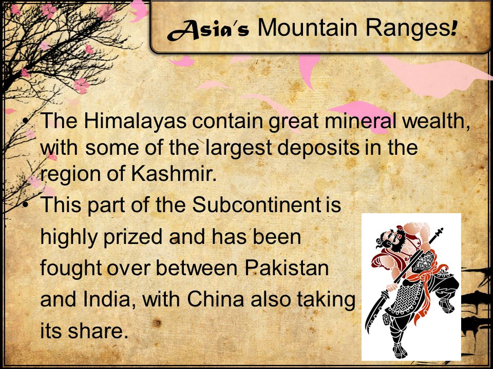 Asia's Mountain Ranges .