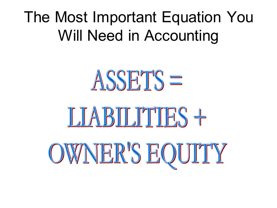 The Most Important Equation You Will Need in Accounting