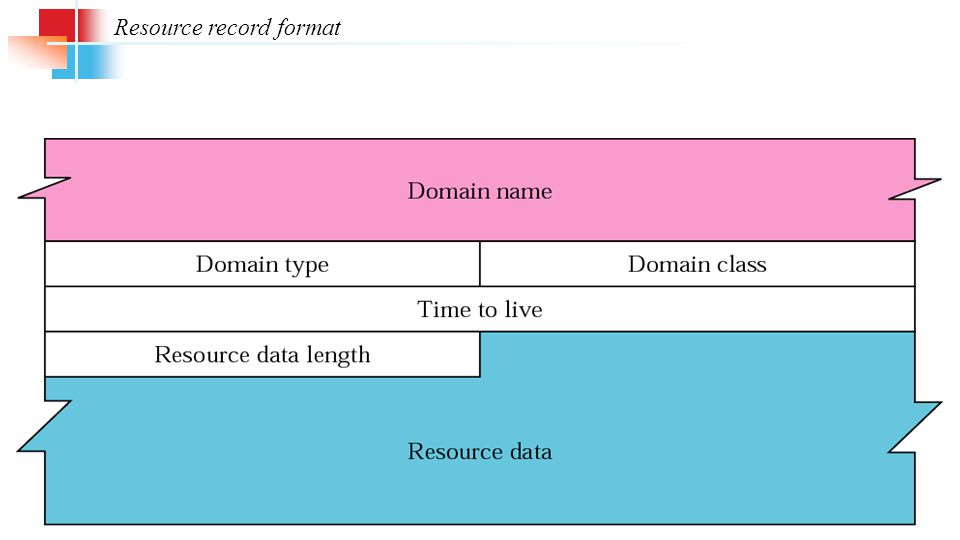 Resource record format