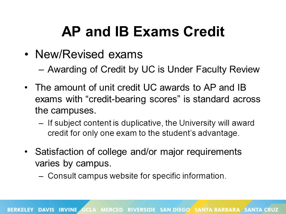 Uc application d in ap chemistry?