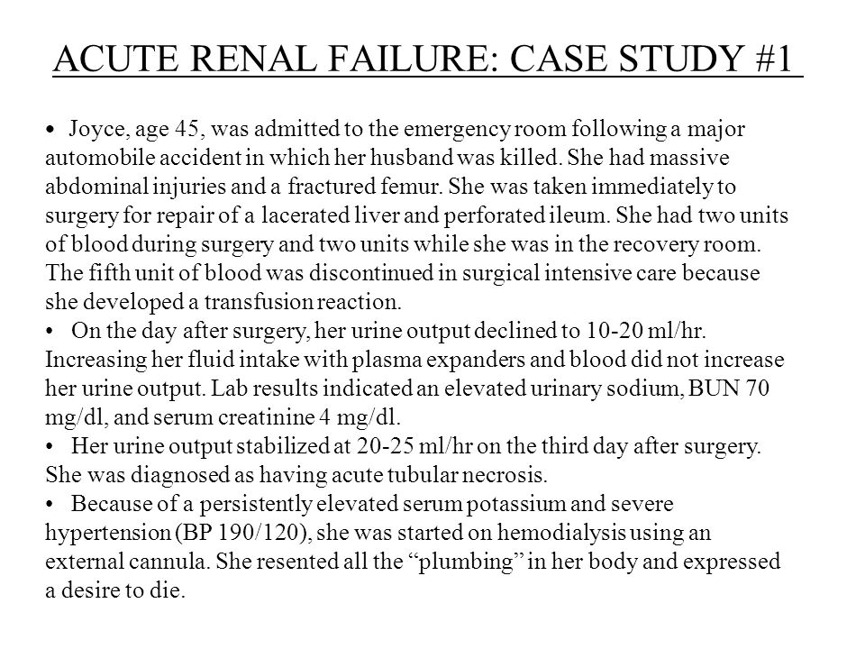 Legal and Ethical Concerns in Treating Kidney Failure  Case Study