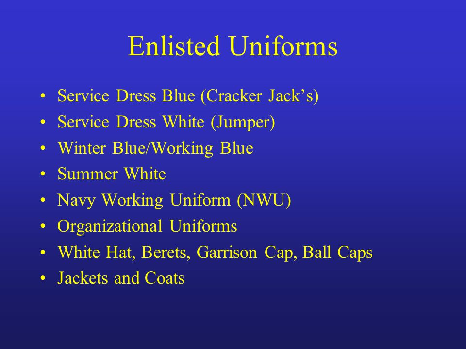 Enlisted Uniforms Serv...