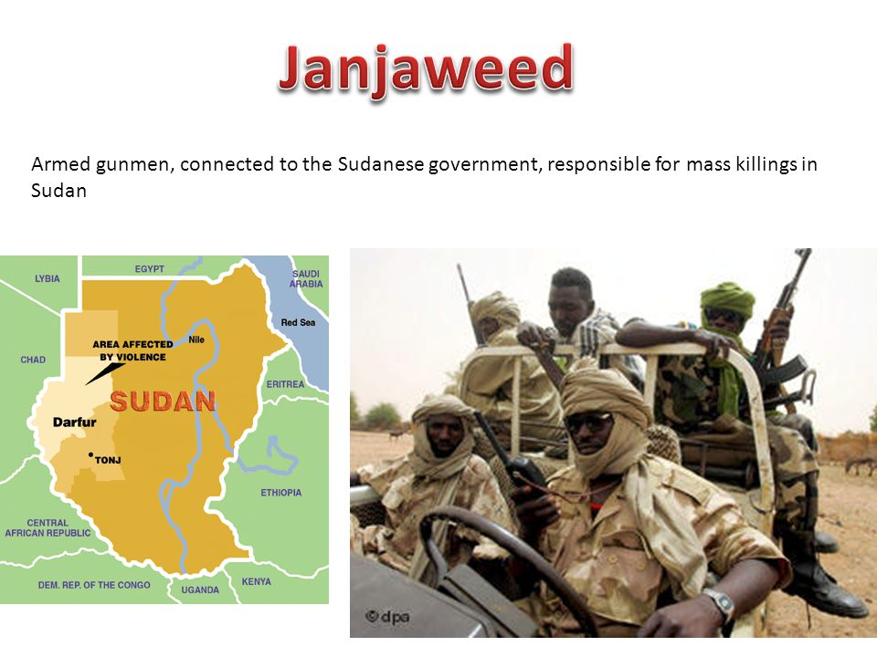 Armed gunmen, connected to the Sudanese government, responsible for mass killings in Sudan