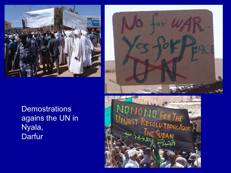Demostrations agains the UN in Nyala, Darfur