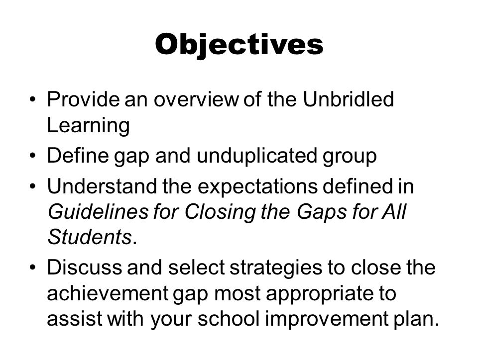 plan for closing the achievement gap for latino students 2 policy brief time to act: closing the racial achievement gap 3 african-american and latino students are they are presented as a beginning plan of action for.