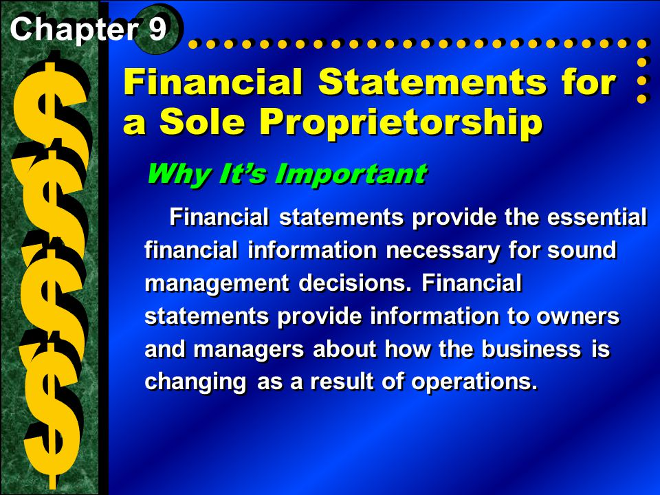 Financial Statements For A Sole Proprietorship Why ItS Important